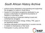 south african history archive