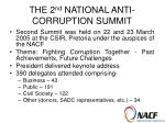 the 2 nd national anti corruption summit