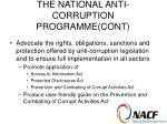 the national anti corruption programme cont10