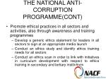the national anti corruption programme cont11