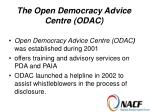 the open democracy advice centre odac