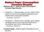 reduce paper consumption increase recycle