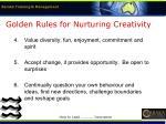 golden rules for nurturing creativity21