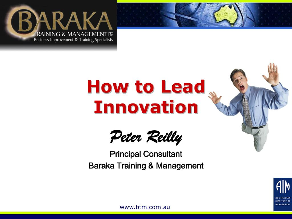 how to lead innovation l.