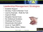 leadership management strategies