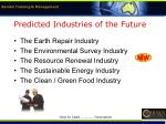 predicted industries of the future