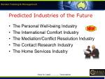 predicted industries of the future18