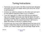 tuning instructions