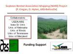 soybean nested association mapping nam project p cregan d hyten ars beltsville