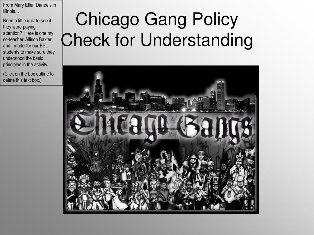 chicago gang policy check for understanding l.