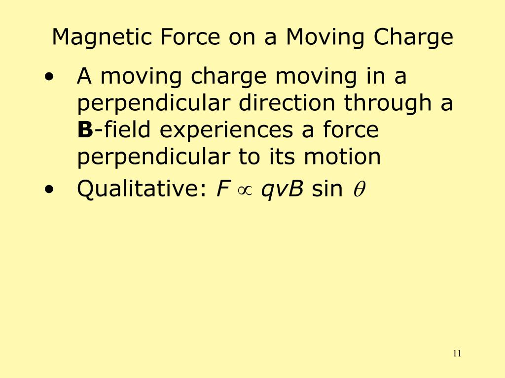 Magnetic Force on a Moving Charge