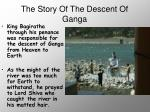 the story of the descent of ganga