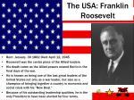the usa franklin roosevelt
