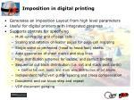 imposition in digital printing