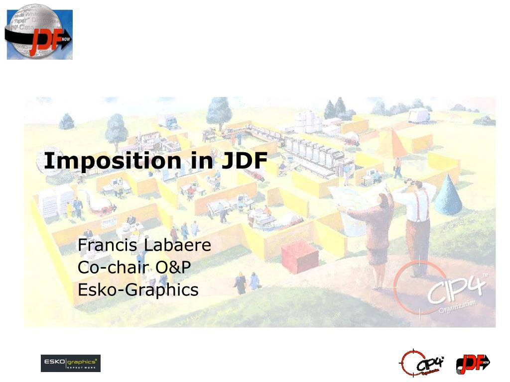 imposition in jdf l.