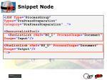 snippet node