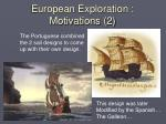 european exploration motivations 211