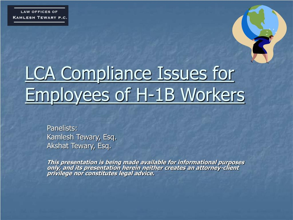 lca compliance issues for employees of h 1b workers l.