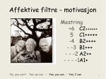 affektive filtre motivasjon