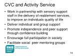 cvc and activity service