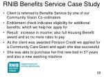 rnib benefits service case study