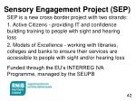 sensory engagement project sep