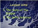 lesson aims