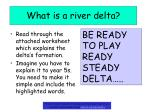 what is a river delta