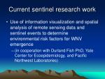 current sentinel research work
