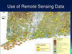 use of remote sensing data
