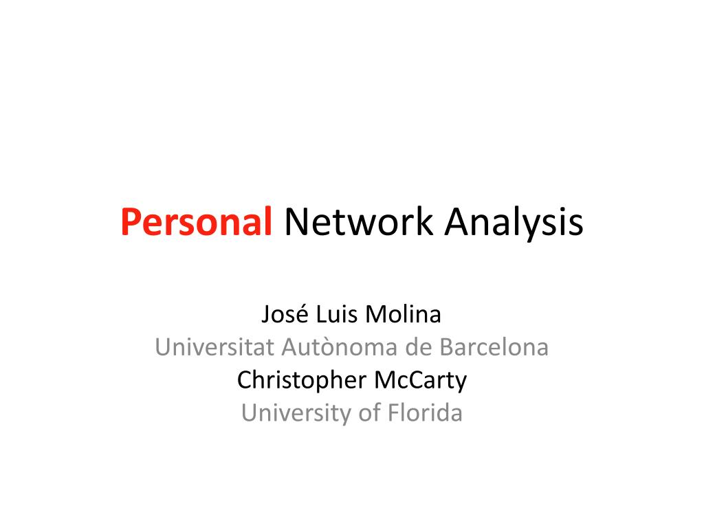 personal network analysis l.