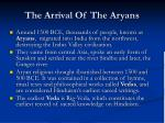 the arrival of the aryans