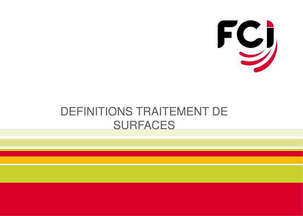 definitions traitement de surfaces l.