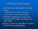 epa and steel industry