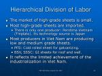hierarchical division of labor22