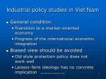 industrial policy studies in viet nam