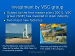 investment by vsc group