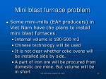 mini blast furnace problem