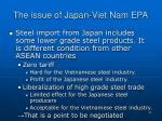 the issue of japan viet nam epa