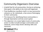 community organisers overview