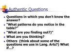 authentic questions