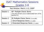 isat mathematics sessions grades 3 8