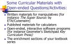 some curricular materials with open ended questions activities