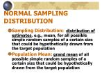 normal sampling distribution