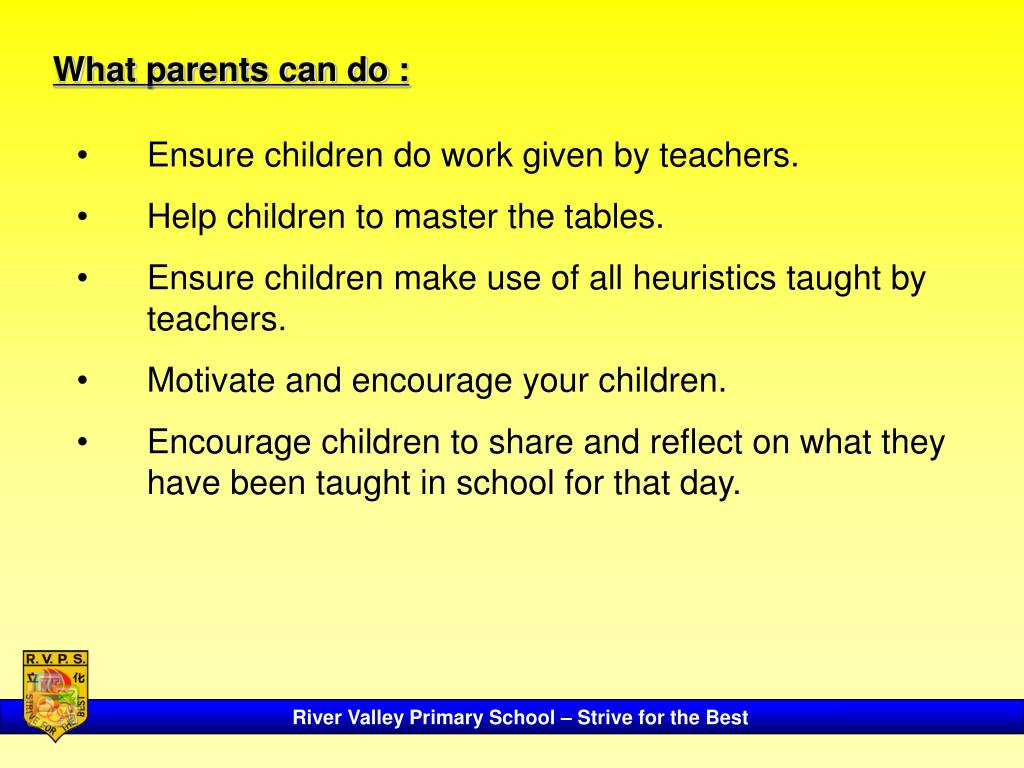 What parents can do :