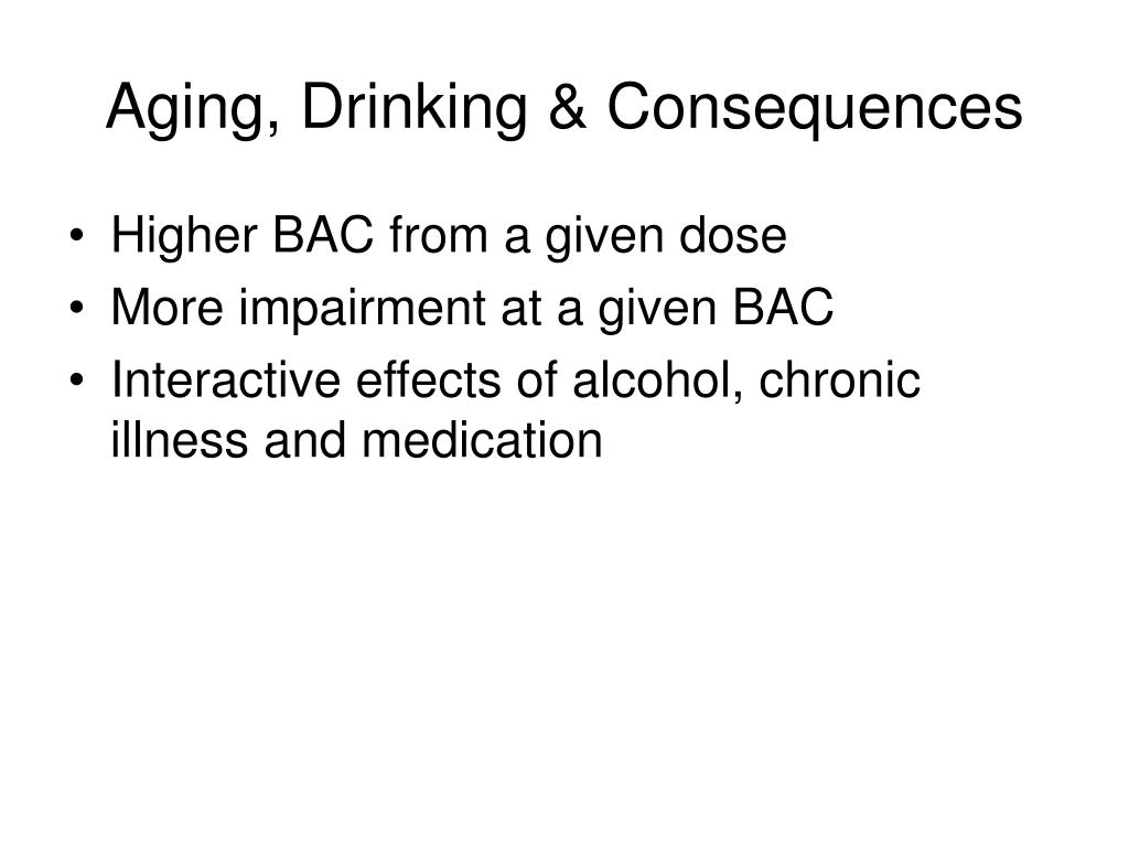 Aging, Drinking & Consequences