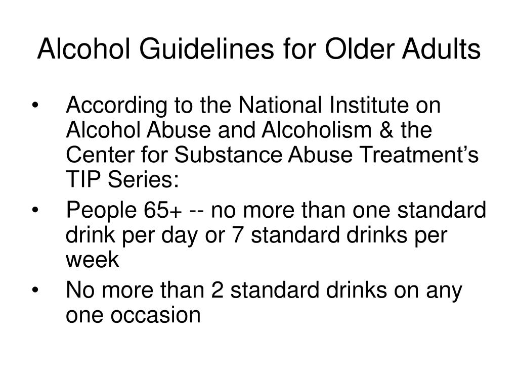 Alcohol Guidelines for Older Adults
