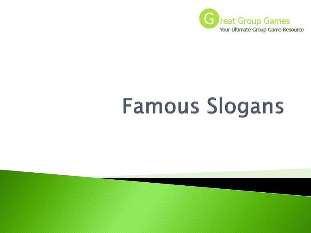 famous slogans l.