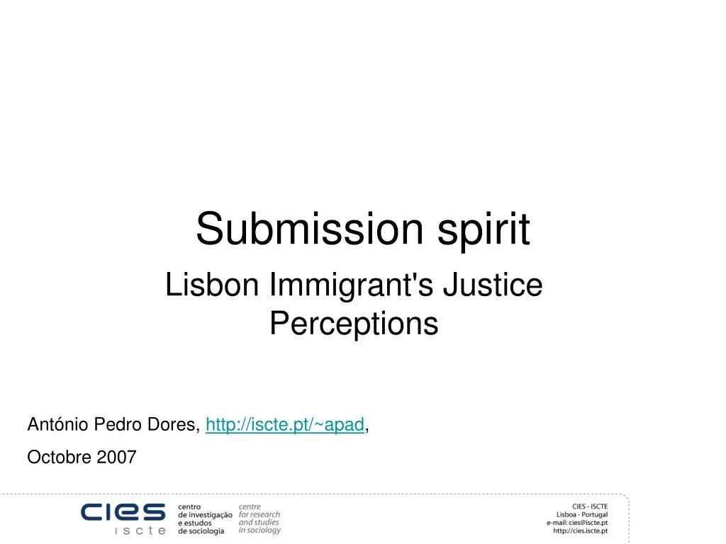 submission spirit l.