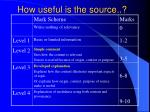 how useful is the source
